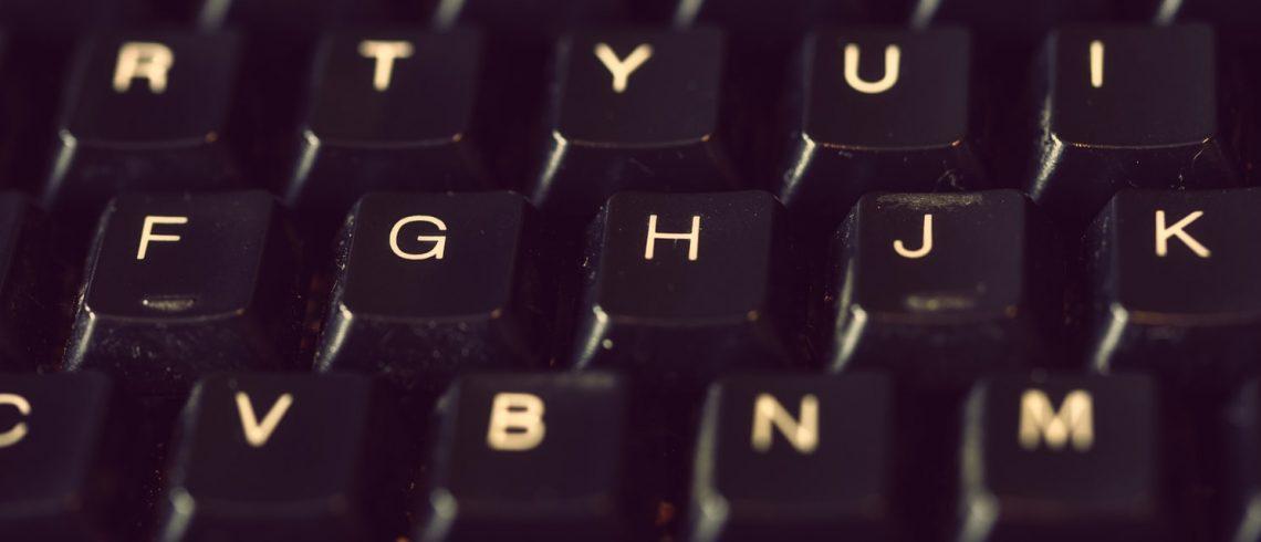 close up image of a black keyboard