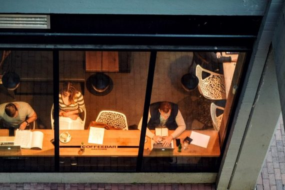 freelancing side gigs people working in a coffee shop 1